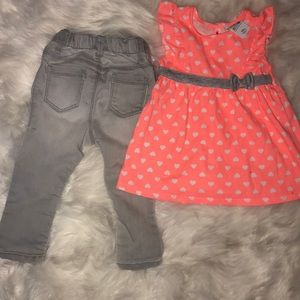 🧡12mos DRESS/TUNIC 18-24mos JEANS💙